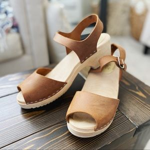 Lotta From Stockholm Open Toed Wooden Clogs 11/41